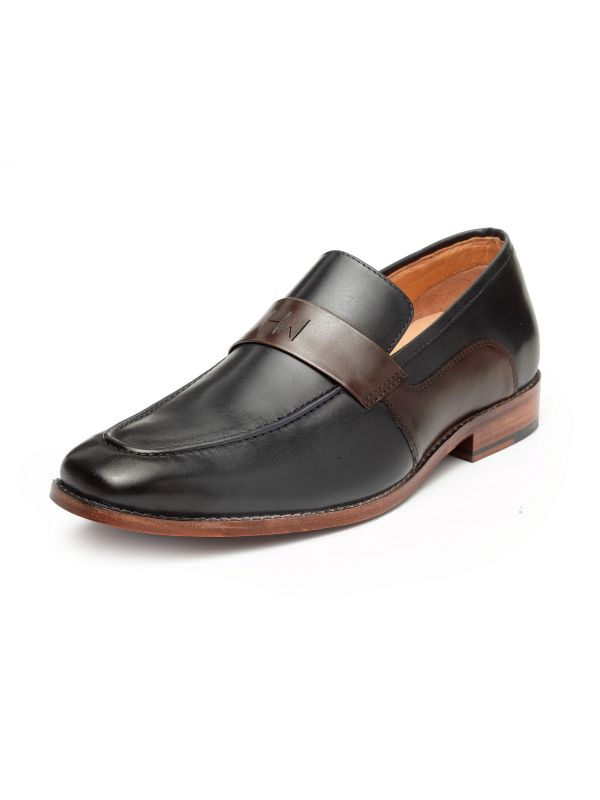 William Navy Loafer Shoe