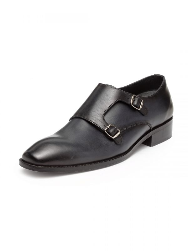 Harry Ash Blue Double Buckle Monk Loafer