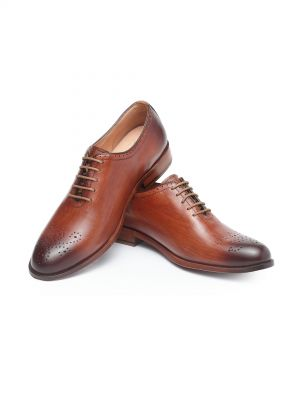 Harold Teak Wholecut Oxford Lace Up