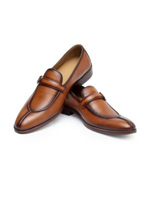 Pincer Tan Slip On Loafer Shoe