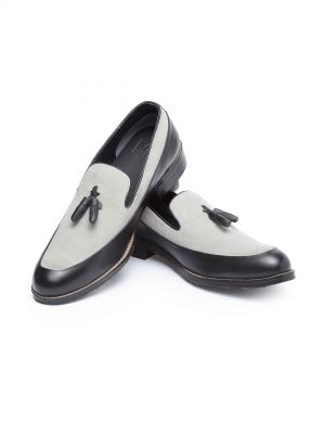 Romeo Grey Black Tassel Loafer