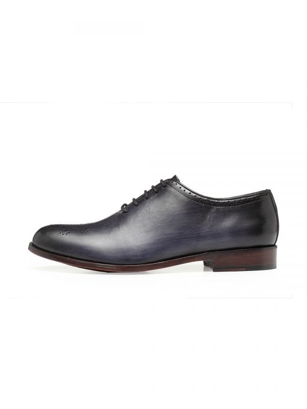 Harold Ash Black Wholecut Oxford Lace Up