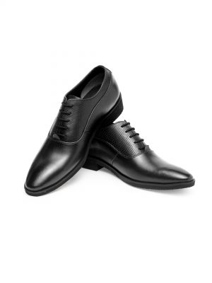 Luis Black Plain Toe Oxford Shoe
